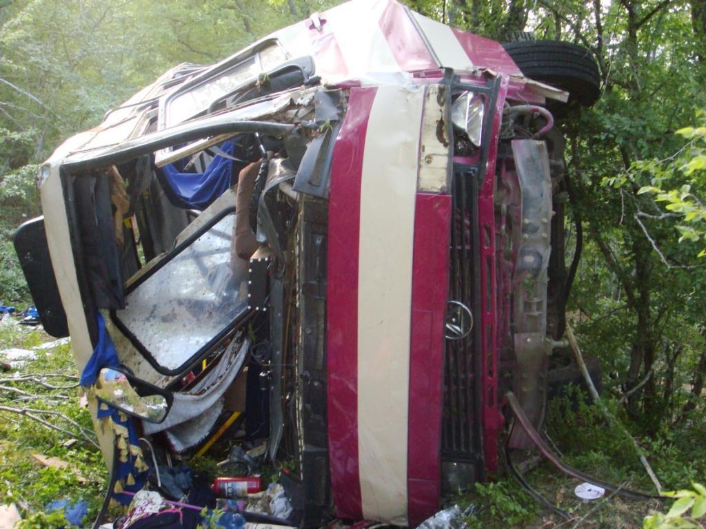 При крушении автобуса вФеодосии пострадали 5 детей, один ребенок умер
