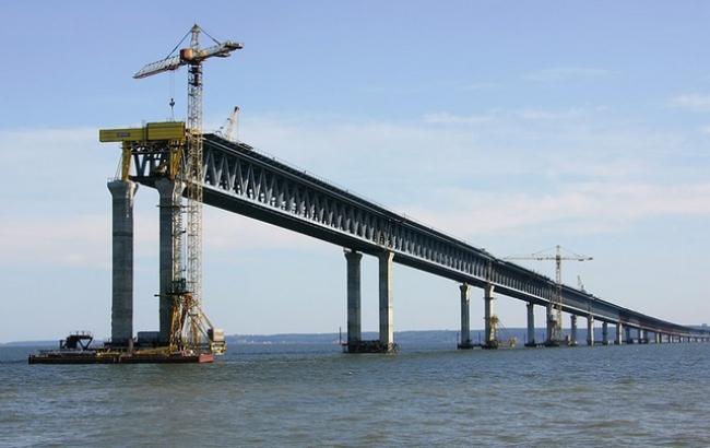 Клиент проекта возведения Керченского моста объявил, что он создан неменее чем наполовину