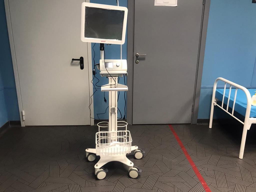 Всего для оказания медицинской помощи в учреждении имеется 22  аппарата ИВЛ