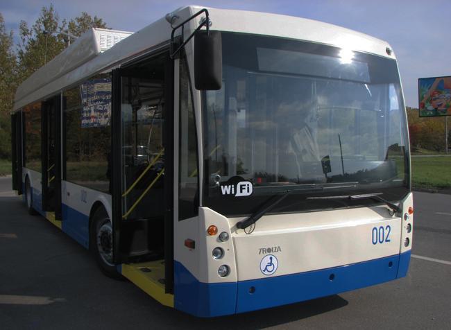 ВСимферополе запущены новые троллейбусы
