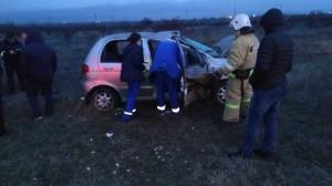 Под Старым Крымом ДТП,  пассажира зажало в разбитом автомобиле
